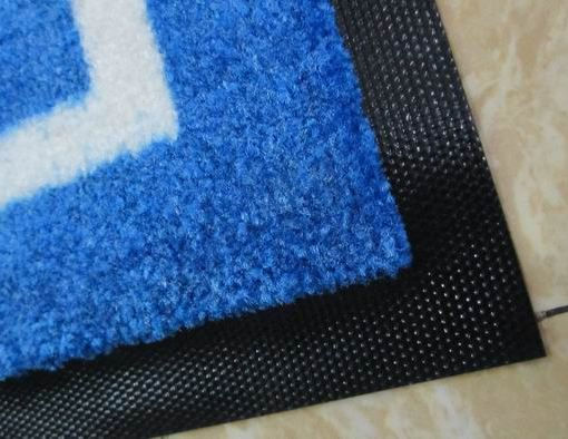 printed logo mats canada twisted nylon pile