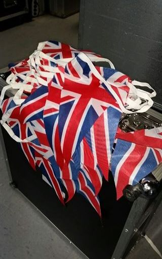 Bunting for British Embassy in Canada