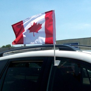 Vancouver Car window flags