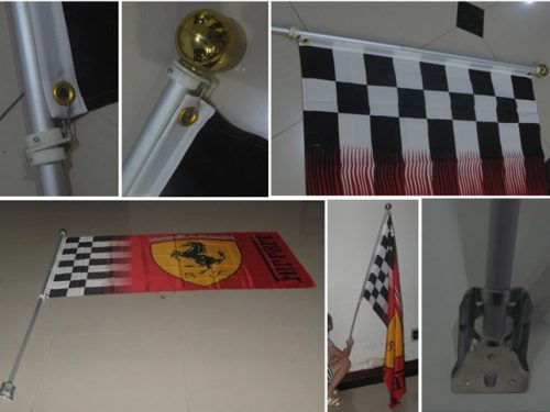 Wall Flags with Metal Pole