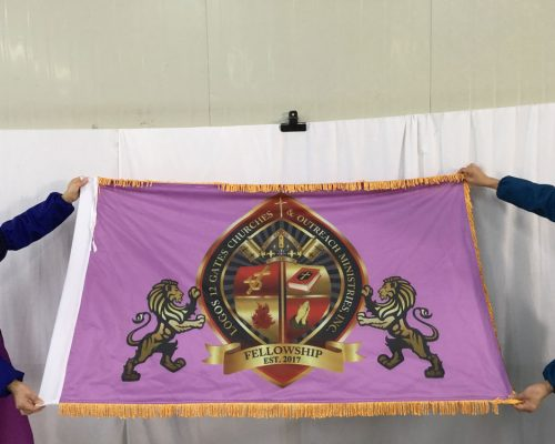 Flag with Gold Fringe