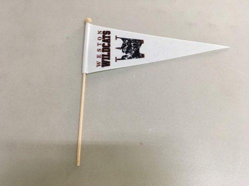 Custom Pennant Flags on sticks