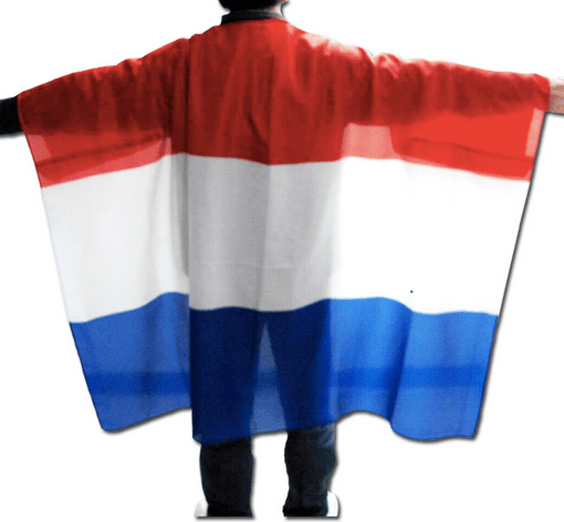 Printed cape flag