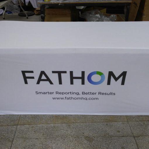 Stretch tablecloth with custom logo