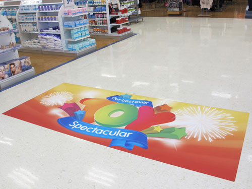 Floor Sticker advertising printing