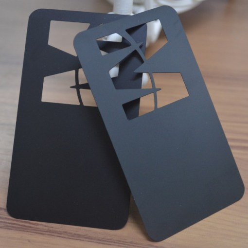 Black matte metal business cards
