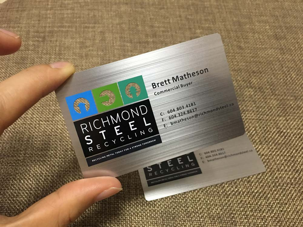 Metal business cards silver gold black free shipping worldwide brushed metal card colourmoves