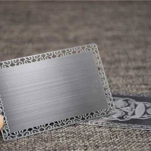 Brushed Metal Business Card with Lace Border