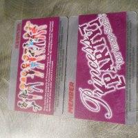 Transparent Plastic membership cards