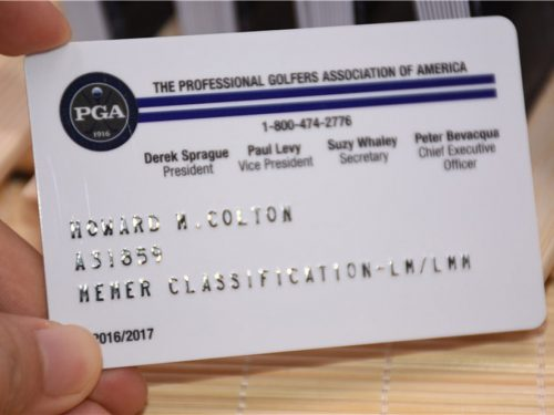 Embossed Numbers and Names on Plastic Card