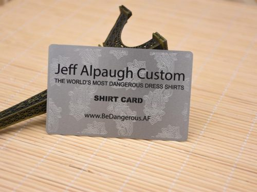 Metal Business Cards with Etching