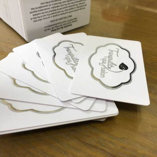 Business Cards with Silver Foil