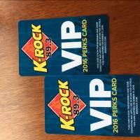 Plastic VIP cards