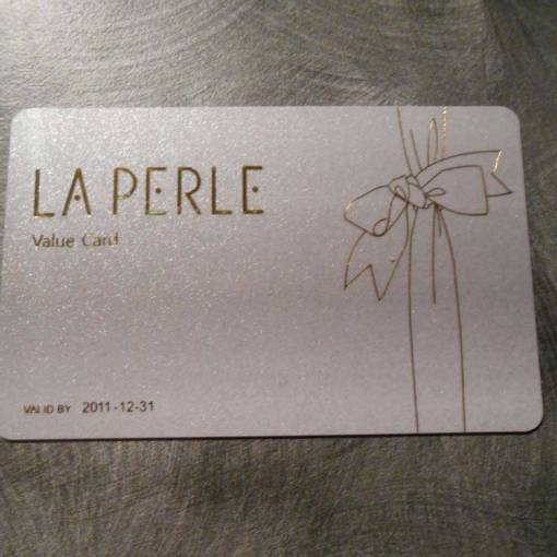 Gold foil frosted business card