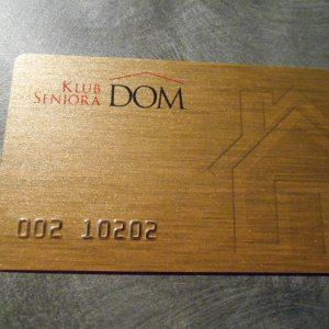 Gold PVC card printing
