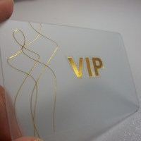 Gold foil stamped business card printing