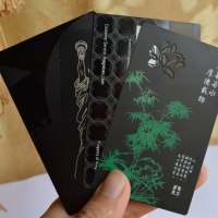 Black Plated metal cards