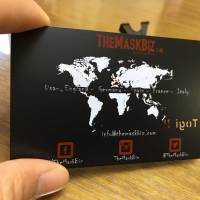 Black Matte Metal Business Cards Shipped to New Jersey