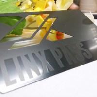 Metal Business Cards Die Cut