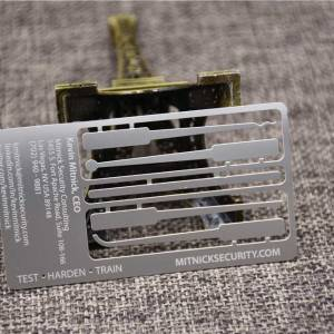 Metal Business Cards with Cut out