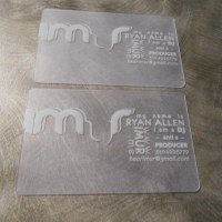 Transparent pvc card printing