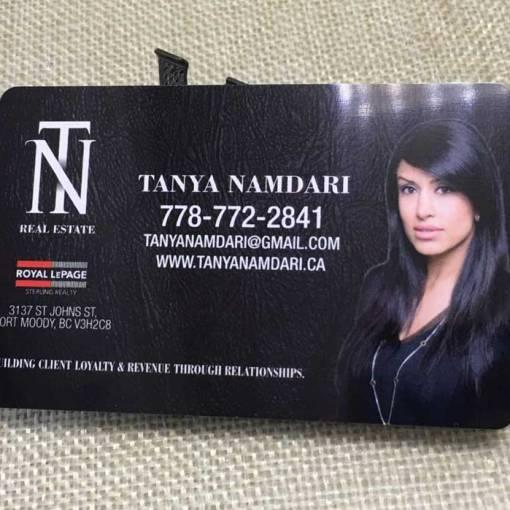 Plastic Real Estate Business Card Printing