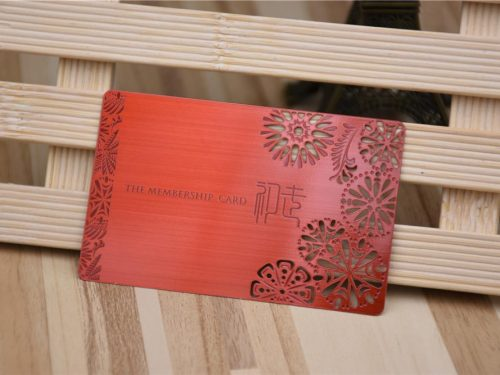 Red Coated Metal Business Card