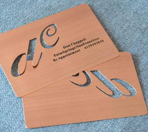 Rose-Gold-Metal-Business-Cards-California