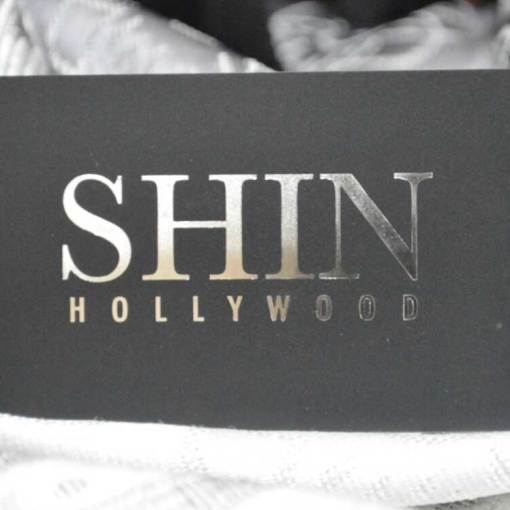 Silver foil stamped business card