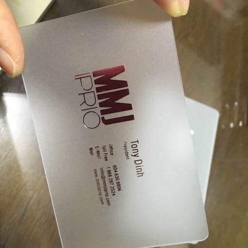 Matte transparent Business Cards