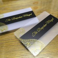 Gold Foil Transparent Cards