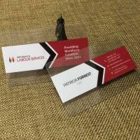 Clear Transparent Business Cards
