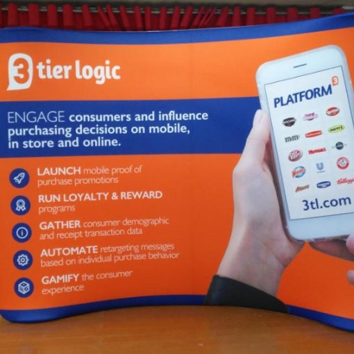 10 Foot Curved Tension Fabric Display for Tradeshows