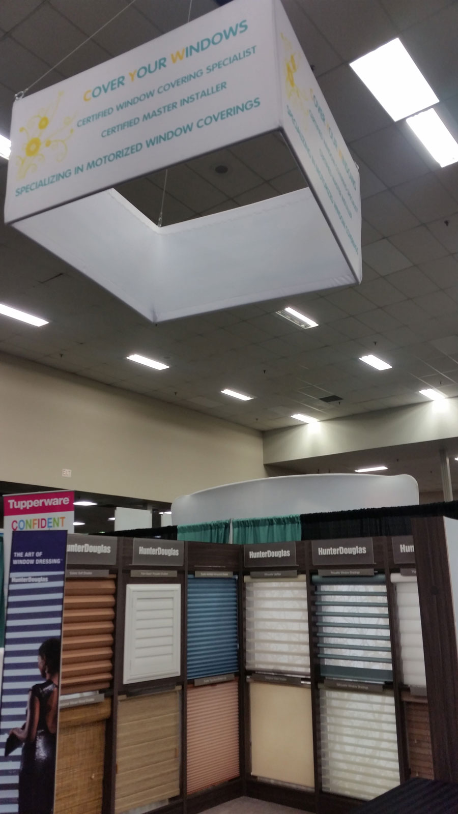 Trade Show Booth Edmonton : Square hanging banners for trade shows exhibitions retail