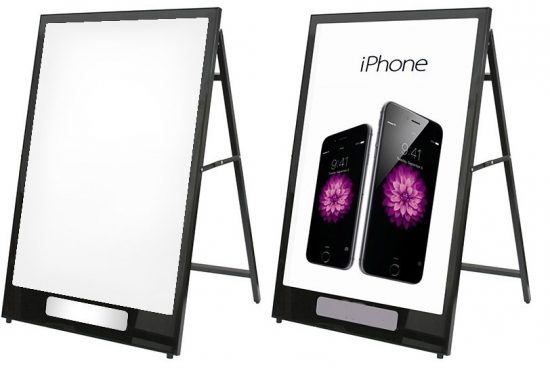 LED Backlit Sidewalk Sign