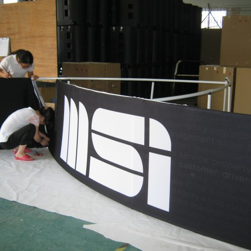 Pinwheel Hanging Display Banner production pic