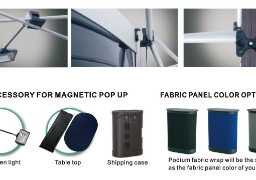 Podium Fabric styles for Trade show booths