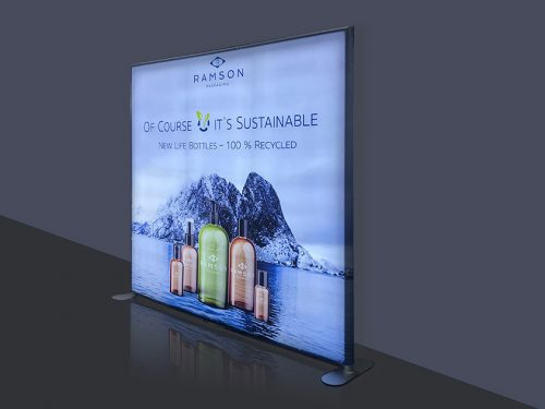 Slim LED Tension Fabric Display