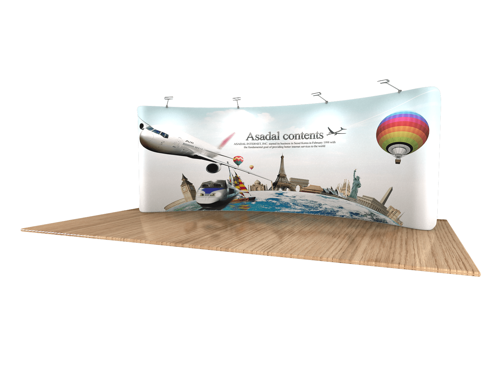 Fabric Exhibition Stand Goals : Tension fabric displays 20 feet wide or more free shipping