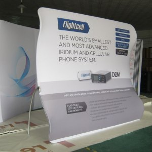 Concave Booth display