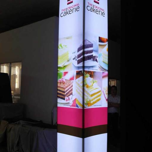 Custom LED Pillars for Tradeshow