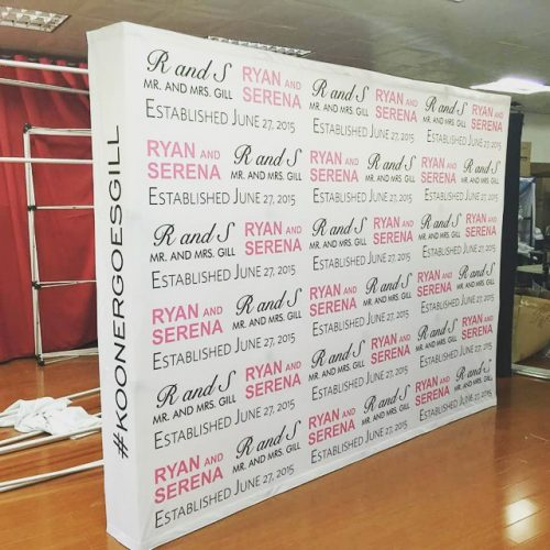 Wedding logo Backdrop walls