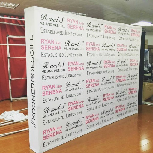 Pop up Display Wedding Logo Wall