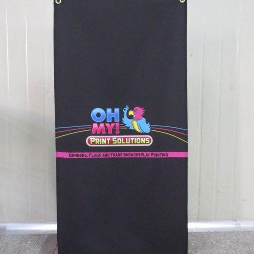 X Frame with Fabric banner