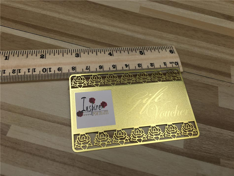 Gold metal business cards luxury and stylish free shipping gold metal business cards reheart Image collections