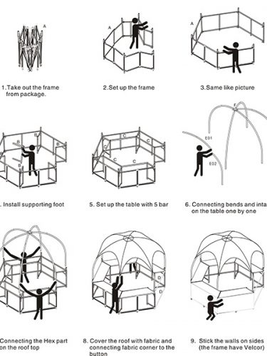 How to set up Booth Tent