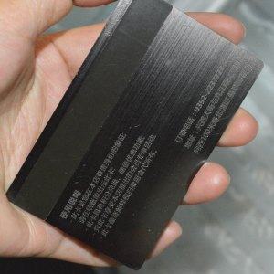 Black Metal card magnetic stripe