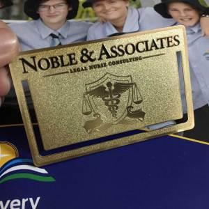 Gold metal cards