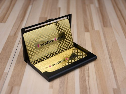 Mirror Gold Metal Business Cards