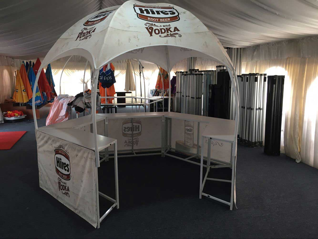 Custom printed promotional booth tent & Hexagon Promotional Booth Tent - Dome Tents - Lemonade Stands